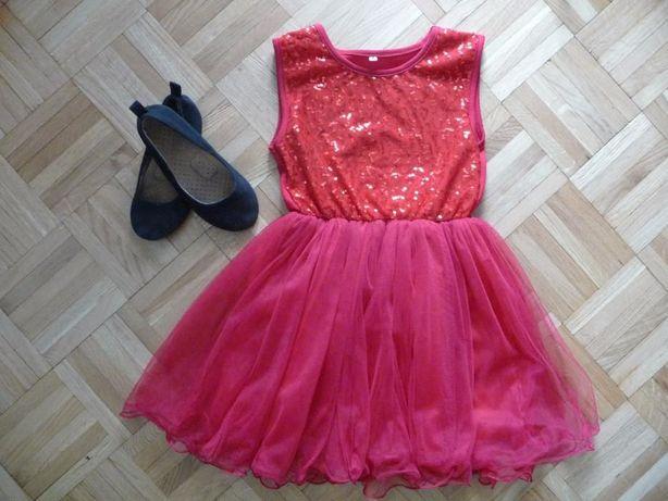 Śliczna sukienka dla małej księżniczki r 130