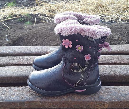 Кожаные демисезонные сапоги ботинки Сlarks Оригинал Gore-Tex 23 р.