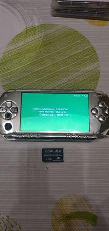 PlayStation Portátil PSP 1004 desbloqueada/Jogos/Memory Card 2GB