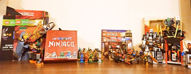 LEGO NINJAGO wielka kolekcja figurek + zestawy