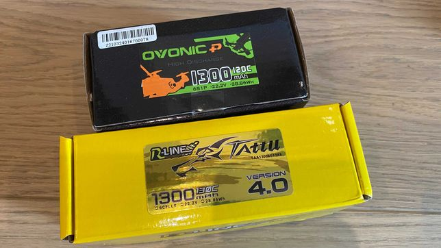 аккумулятор ovonic tattu r-line v4 1300 mAh 120C 130C 6S