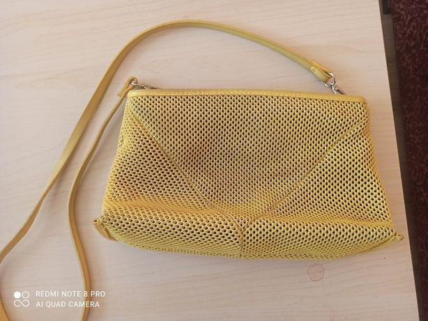 żółta torebka - kopertówka