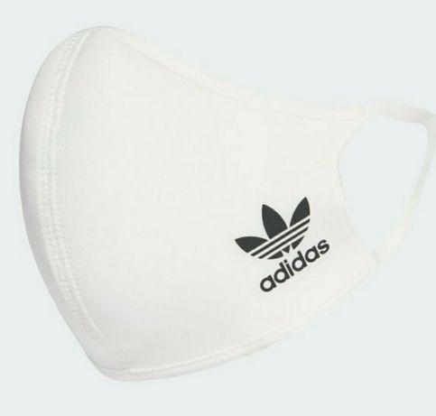 Biała oryginalna maska Adidas rozmiar M/L