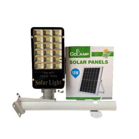 Уличный светодиодный LED фонарь на 150 Ватт на солнечной батарее