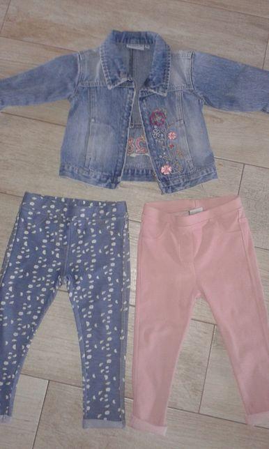Kurtka jeans, tregginsy Zara roz. 86/92