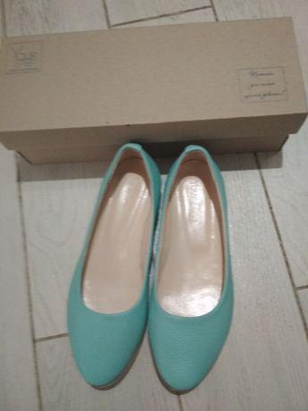 Обувь кожа женская туфли балетки мокасины