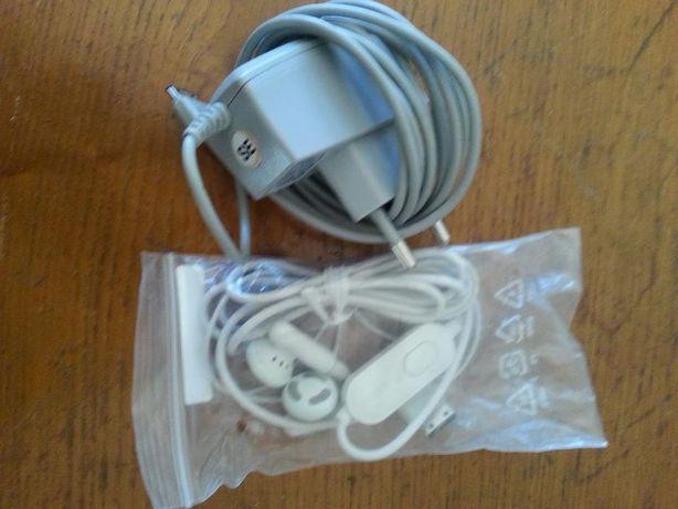 Carregador e auricular Samsung