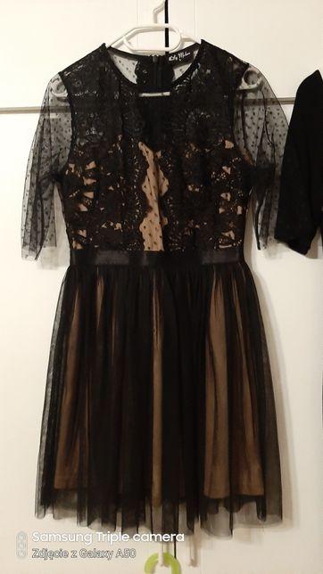 Rezerwacja Sukienka tiulowa sukienka z dzianiny roz 40/ L