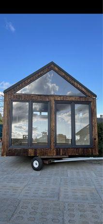 Domek mibilny 30m2 + antresola nowoczesna stodoła