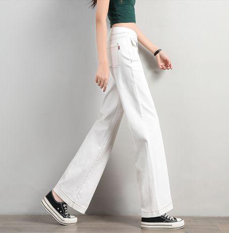 штаны брюки женские широкие джинсовые