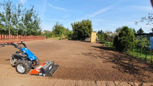 Usługi glebogryzarka separacyjna, przygotowanie ziemi pod trawnik