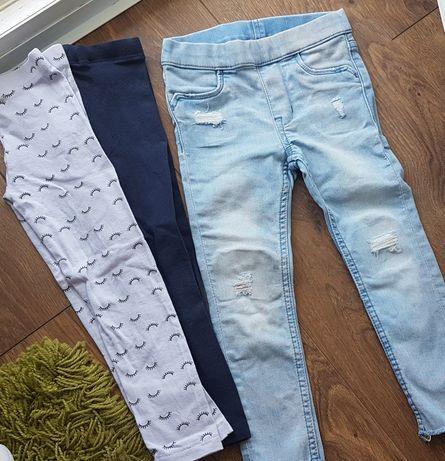 Spodnie dziewczynka 98  98/104 na szczupłą dziewczynkę