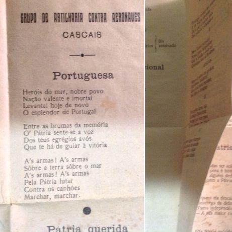 Impresso c/várias letras -Grupo de Artilharia contra Aeronaves Cascais