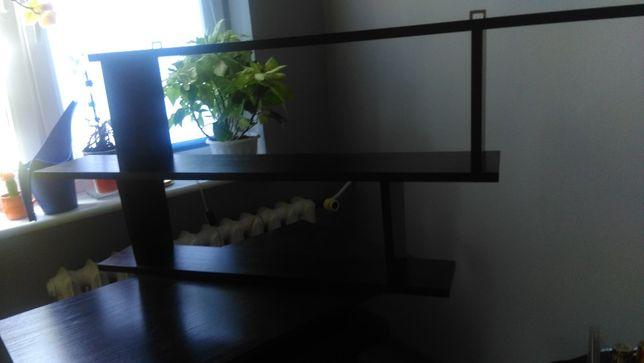Półka nad biurko czarna