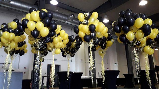 Balony ledowe z helem led hel brama z balonów pudło z balonami helowe