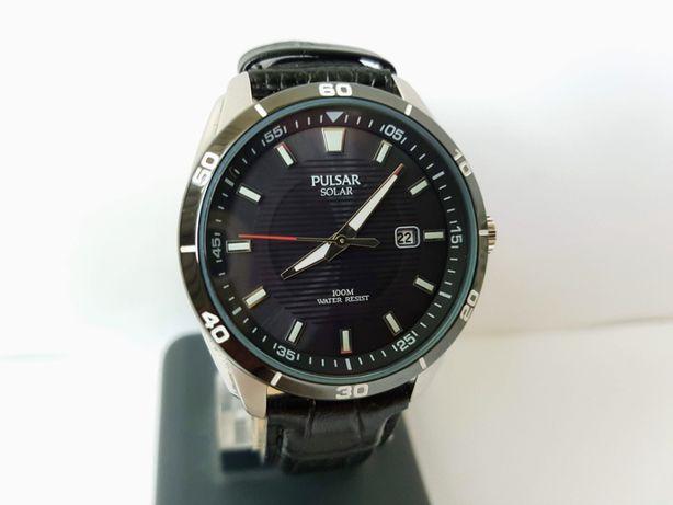 Новые часы Pulsar Solar AS32-X012, нержавейка, зарядка от света.