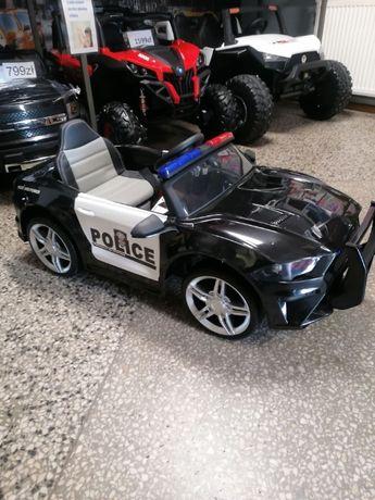 Samochód Policyjny na akumulator dla dzieci Skóra Miękkie koła HIT!