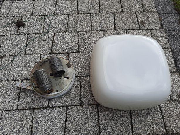 Biała lampa klosz plafon prl