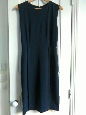 Vestido azul escuro COS S