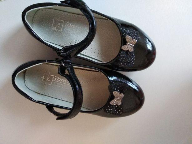 Черные туфельки для девочки