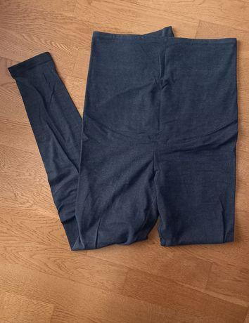 2x legginsy getry ciążowe S/M czarne i szare