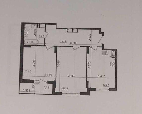 2к квартира 75м2  в ЖК Пролисок, 6 ДОМ, метро Дворец Спорта
