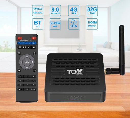 SmartTV Tox1 4/32 GB (Amlogic s905x3) Android9 Гарантия. Настроена.