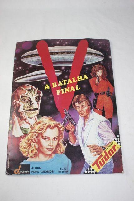 Caderneta de cromos-V A Batalha Final-1987 Warner Bros-Disvenda-Rara