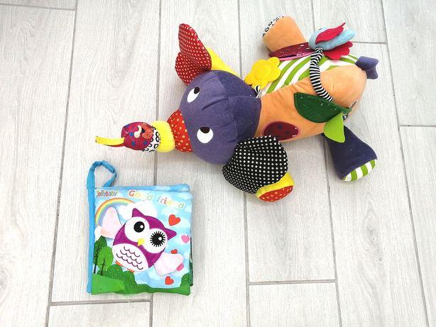 Продам детские игрушки слона и книжечку