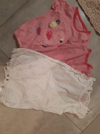 ubranka dla dziewczynki 62-74 mega paka