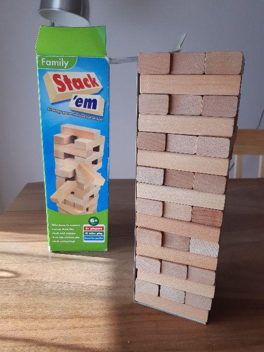 Stack'em: Zbuduj wieżę (Jenga): kultowa gra imprezowa/zręcznościowa Kościan - image 1