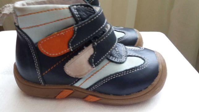 Ботиночки кожаные на мальчика р.21