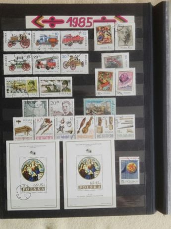 Znaczki pocztowe, kasowane rocznik 1985