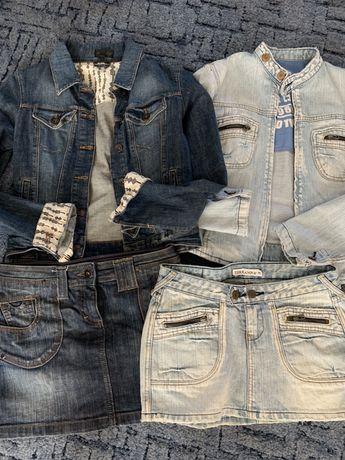 Продам джинсовую куртку и юбку