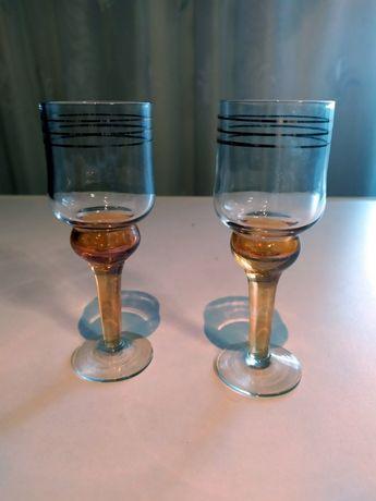 Рюмки на ножке с позолотой(чарки),стаканы(склянки) времен СССР