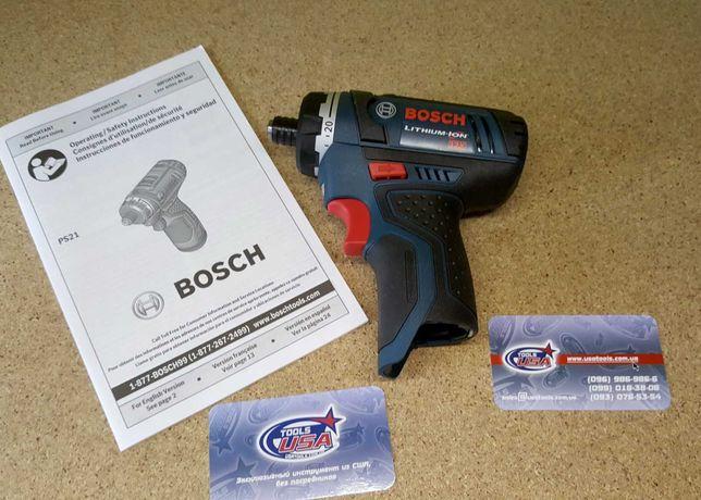 Шуруповерт 2-х с-ной 10.8/12В Li Bosch PS21B (каркас) бош bosh boch