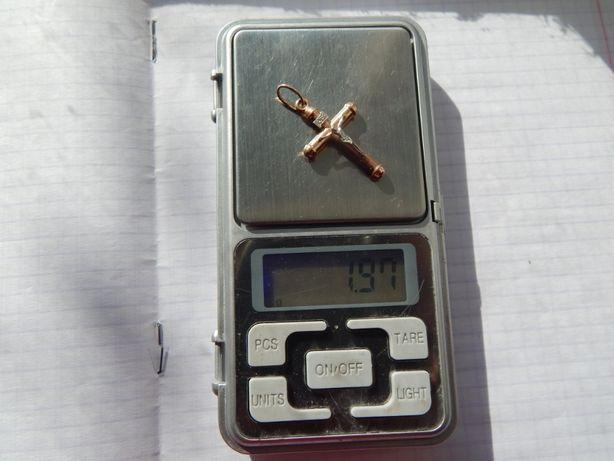 Крестик золото 585* Серьги - Обручалка (не лом)