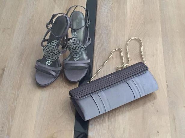 Piękne sandały na obcasie / szpilki 39 + torebka MANOUKIAN