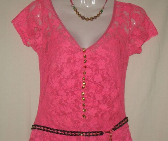 Платье на девочку, розовое гипюровое. Зара.. Очень Классное.