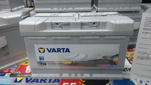 Akumulator Varta Silver F19 85Ah 800A P+ BMW dowóz montaż Kraków Azory