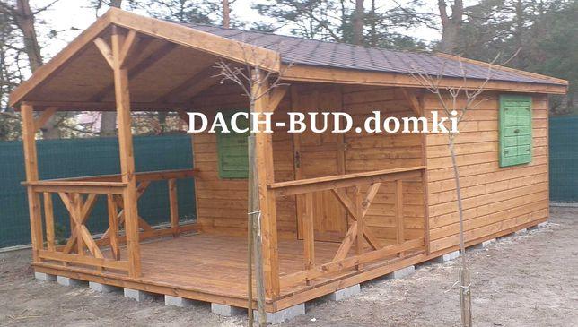 Domki drewniane ogrodowe letniskowe SINNESRO 24mkw