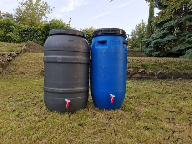 beczka plastikowa z kranem 190l beczki z kranikiem do wody deszczówki
