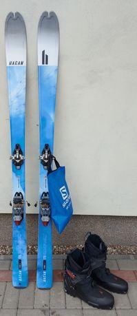 Narty skiturowe,buty,wiazania,foki