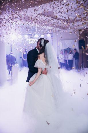 Спецефекти на перший танець, важкий дим, кофеті, холодні вогні,весілля
