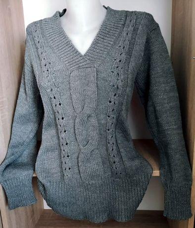 Dalys Fashion damski szary sweterek XL