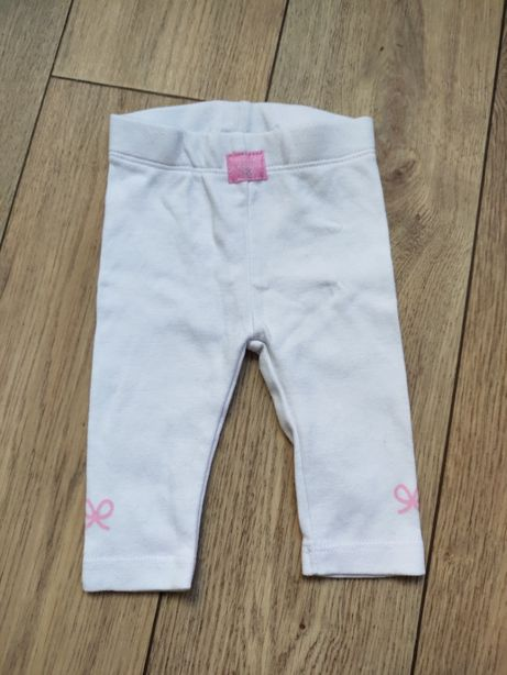 Одежда для Реборн, большой куклы белые лосины с розовыми бантиками 56