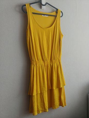 Musztardowa sukienka Sinsay S