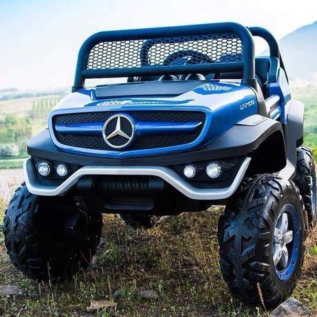 Mercedes Unimog a bateria de 12v para crianças azul NOVO