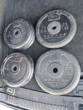 Pesos discos halteres 10 e 5 kg