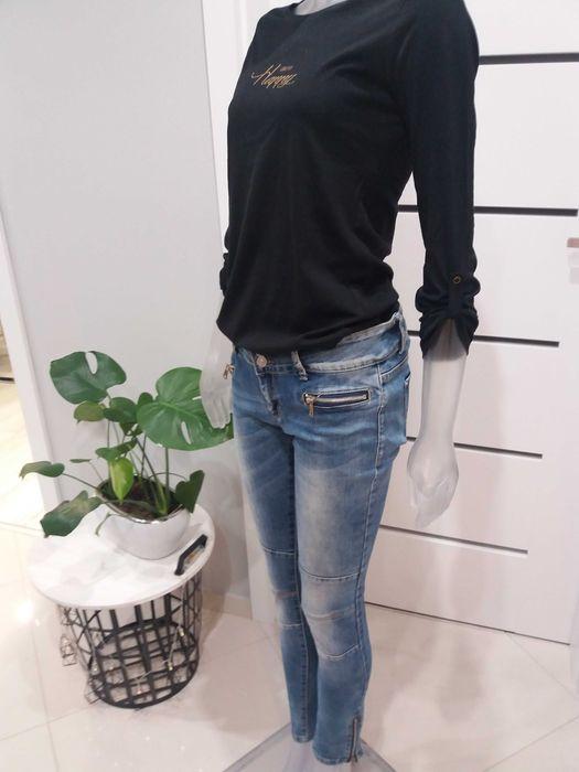 Spodnie jeansy plus bluzka rozm.S Barcin - image 1